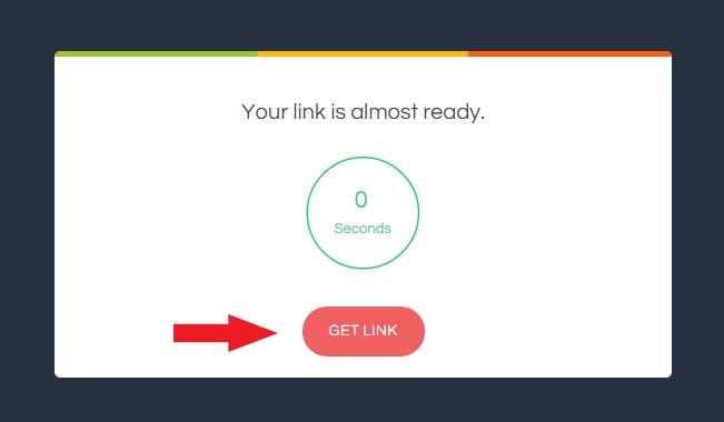 Hướng dẫn tải sách miễn phí: Bước 2, chờ 3 giây và nhấn nút Get link