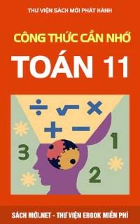 Tải sách Công Thức Toán Lớp 11 Cần Nhớ PDF