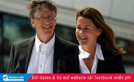 Vợ chồng Bill Gates mở website tải sách miễn phí